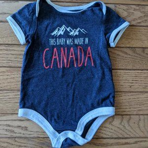 This Baby Was Made In Canada Onesie